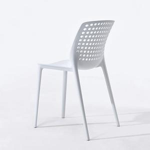 Plastic oval shaped bistro low back chair