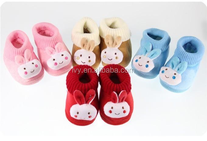 Recién Nacido Bebé De Punto 3d Conejo Animal Calcetines ...