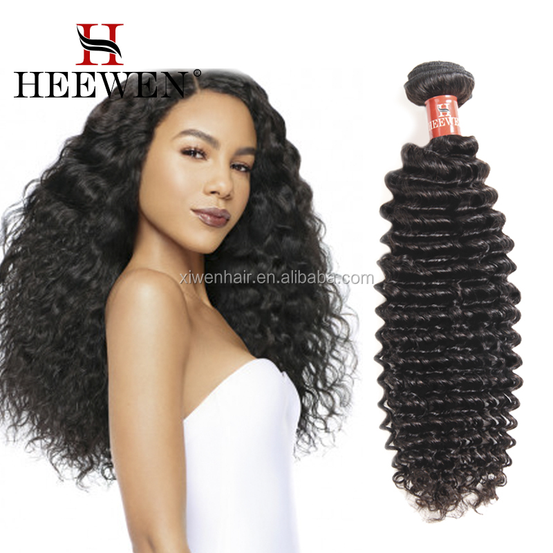 Top Quality raw virgin unprocessed human hair deep wave bundles with closure,expression hair braiding extensions