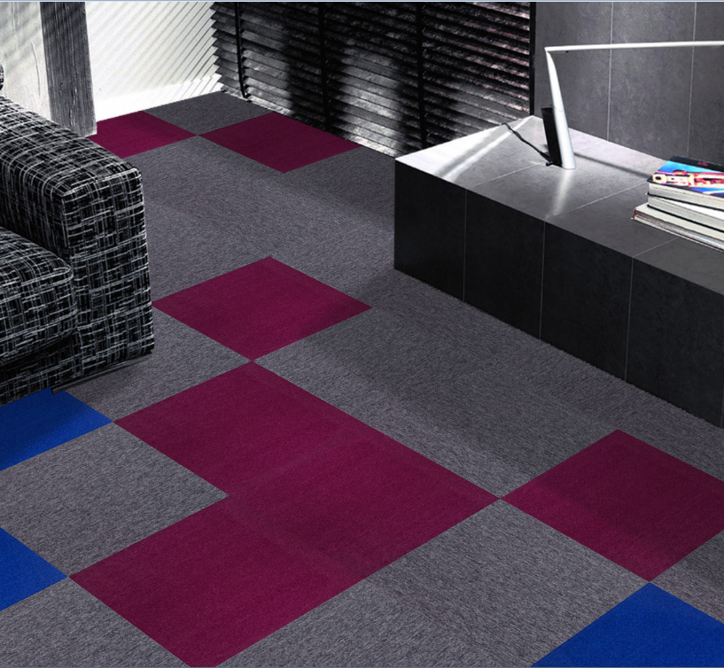 Removable carpet squares electron beam
