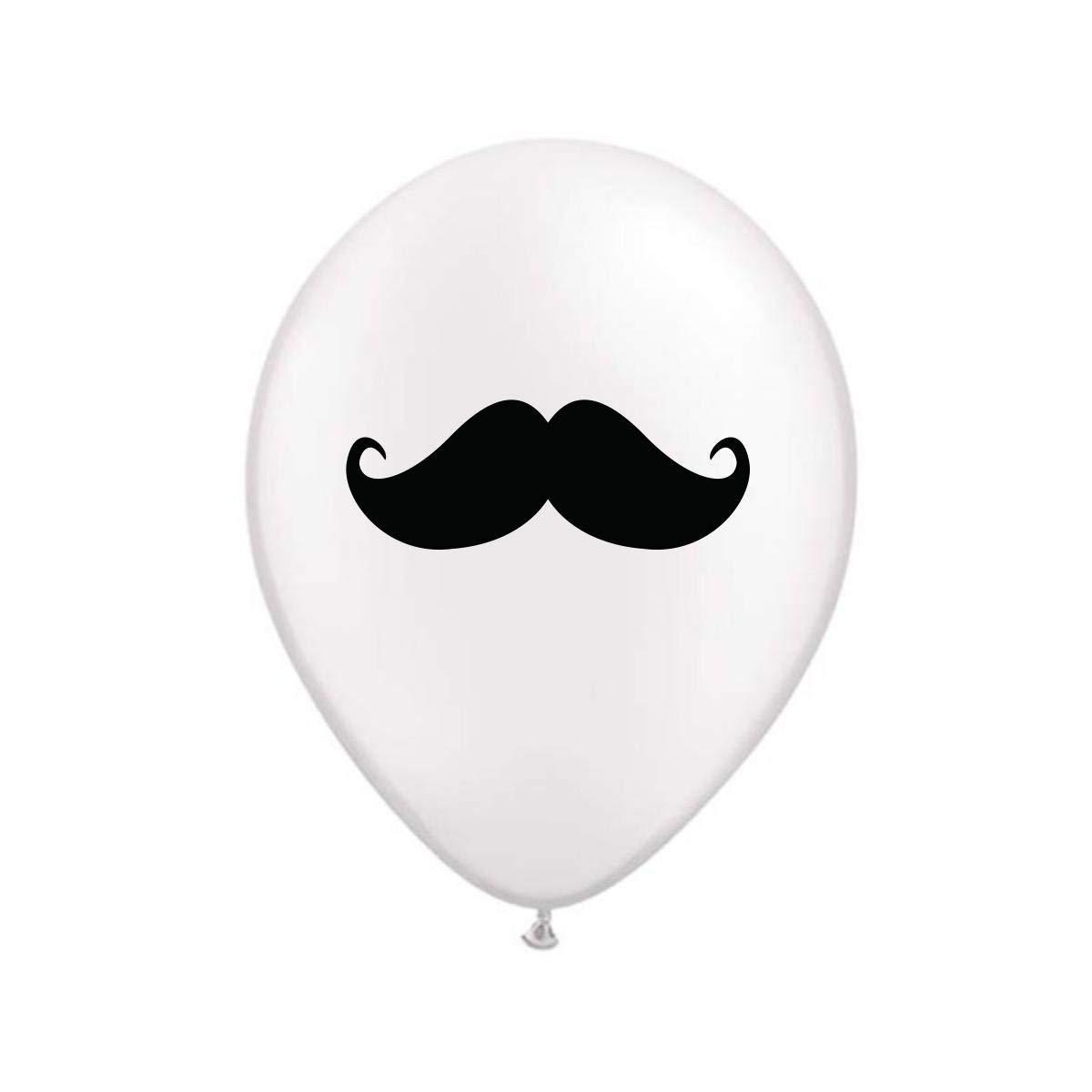White Mustache Balloon Little Man Birthday Party Decorations Balloons