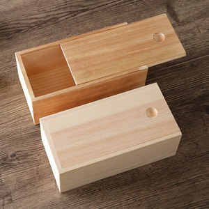 pine plywood wooden gift box with sliding lid