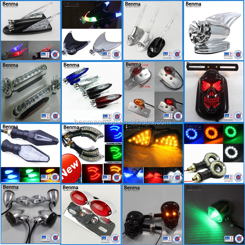 Motorcycle Spareparts Black Harlley Motorcycle Universal LED Turn Signal Light Indictor Aluminum Column Stick Bar LED Turn Light