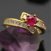 Fashion 18K pure gold plated ring ruby design brass ring jewelry gold models