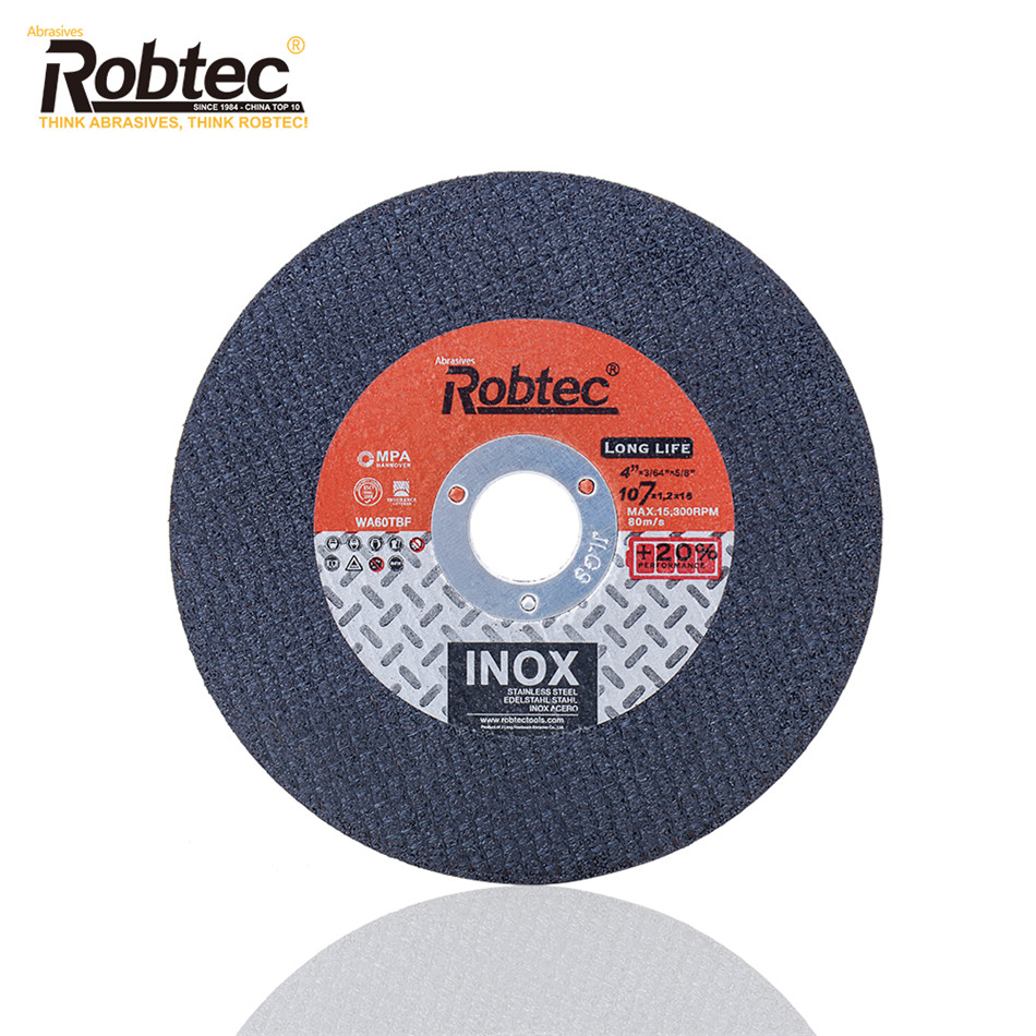 34 Years Abrasive Tools Factory Supplied 4 metal cutting disc for steel, iron, 107x1.2x16mm