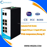 Gigabit POE Switches 8 ports Managed Industrial POE Switch for IP Camera High Speed Ball Camera