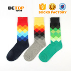 Latest colorful dress awesome happy socks men custom