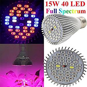 15W E27 Full Spectrum Plant Grow 40 LED Bulb Garden Greenhouse Plant Seedling Growth Ligh / 15W E27 Full Spectrum Plant Seedling Grow LED Bulb . . Plants in the greenhouse or laboratory, can com