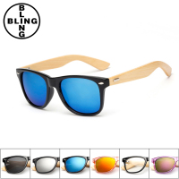 >>>Bling-Fashion Women Brand Design Sport Goggles Retro Wood Sunglasses Men Bamboo Sunglass