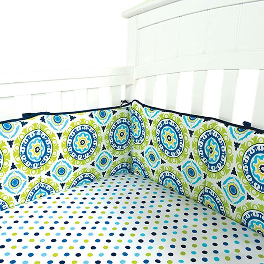 Trend Lab Home Indoor Baby Nursery Room Decorative Waverly Solar Flair Crib Bumpers
