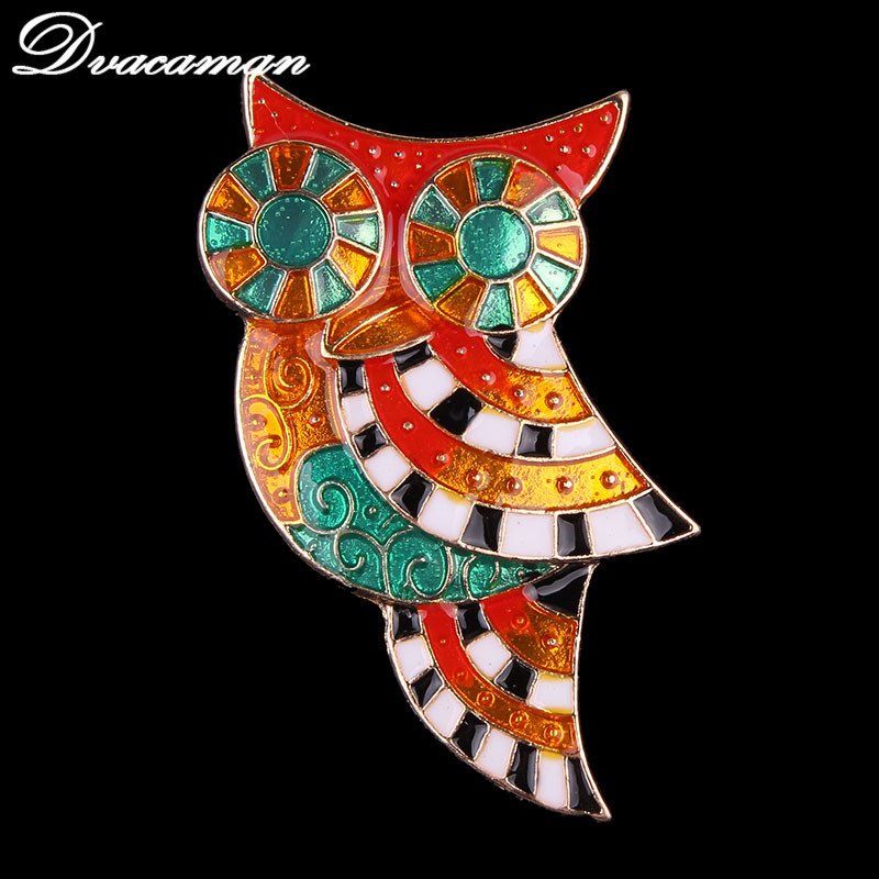 Dvacaman Vintage Corsage Enamel Brooches For Women Gift Wedding Big Belly Parrot Brooch Owl Pin Rhinestone Pin And Broaches 6225