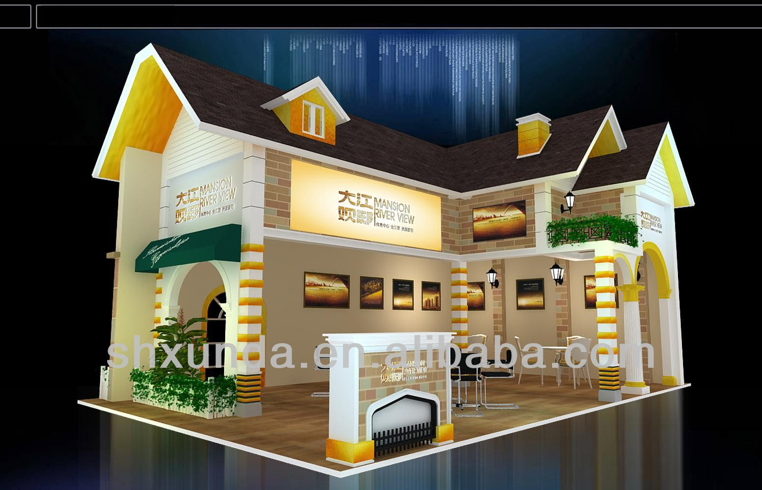 real estate exhibiton/ fair/ event booth/ stall/ stand/pavilion kiosk design and building