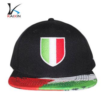 dcf19149 oem 6 panel snapback plain hats wholesale/custom 3d embroidery hat with  digital printed brim