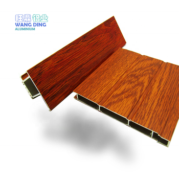 Good source of materials aluminium extrusion wood grain profile sliding window exported