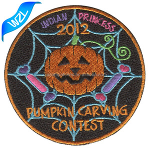 Customized embroidery pumpkin patches Funny joke garment patch