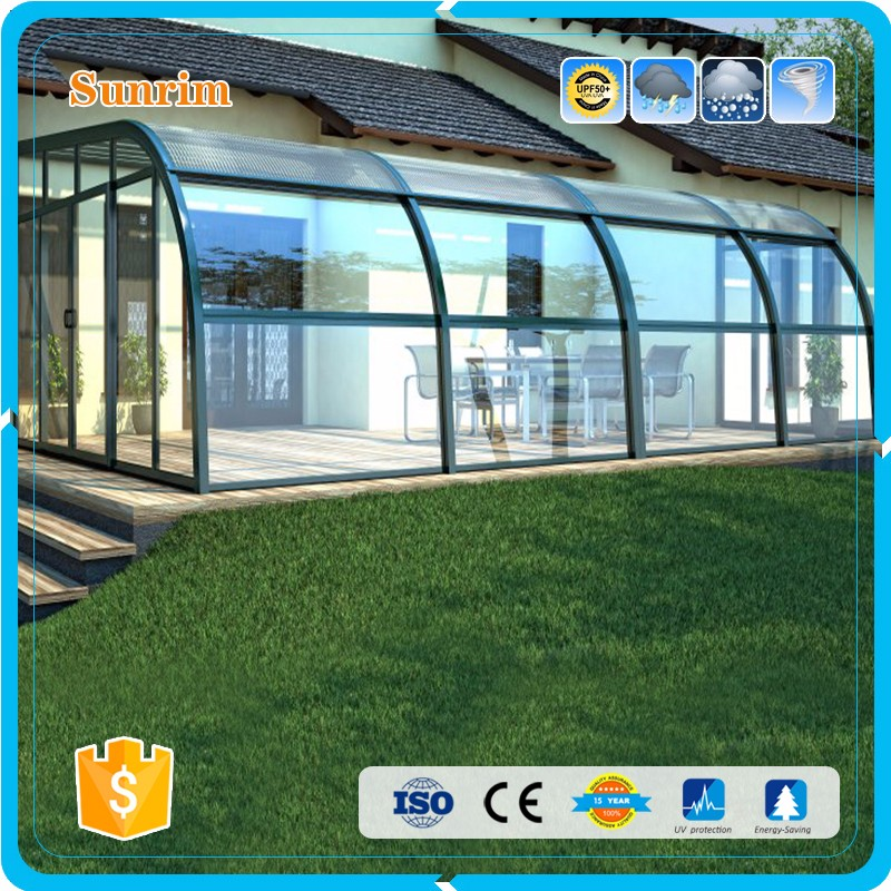 top quality prefabricated customized aluminium patio enclosure miami