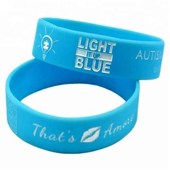 Motivational Silicone Bracelet For Autism Awareness Personalized Bracelets Est Wristband