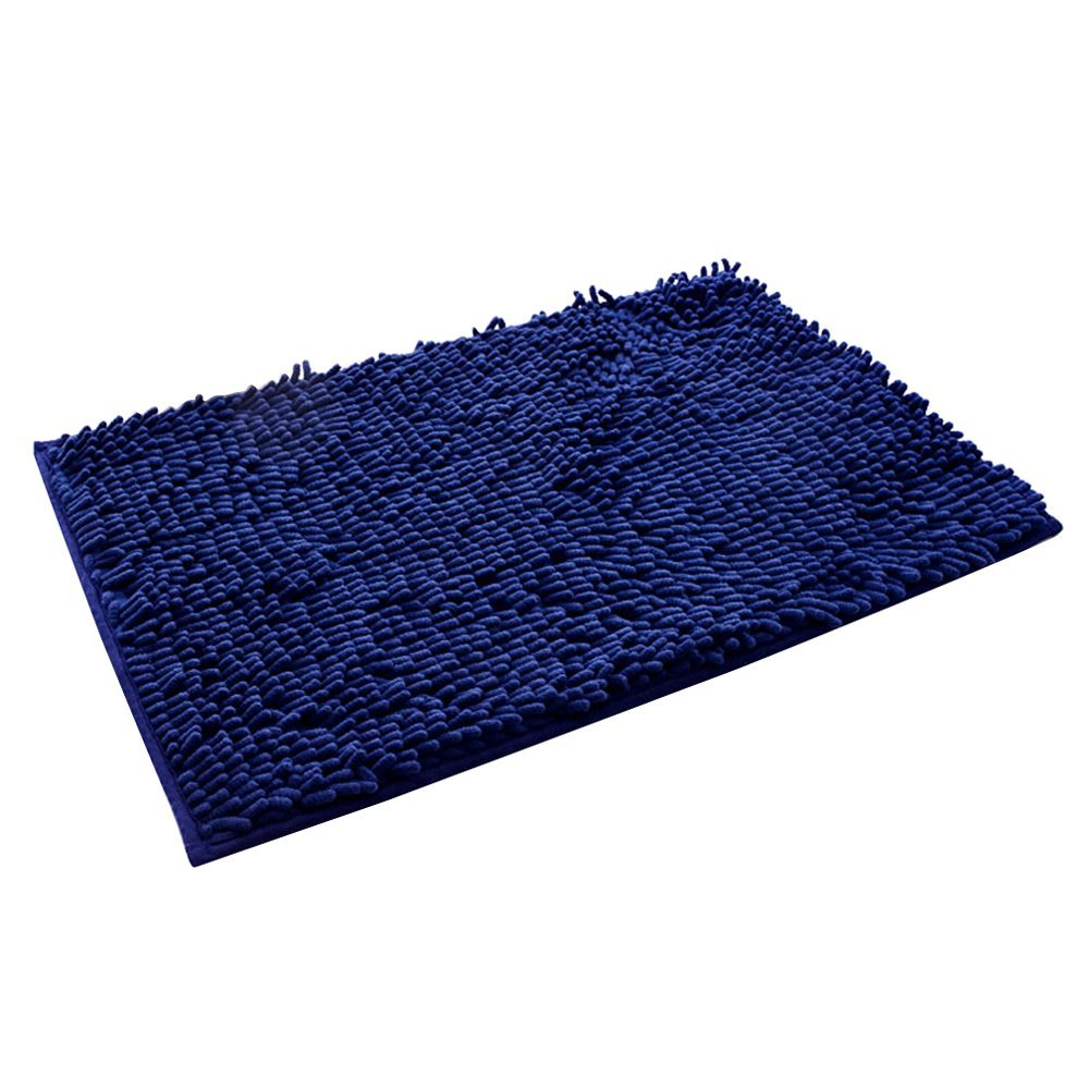 Get Quotations Kaimao Chenille Non Slip Bath Mat Rug Washable Soft Shaggy Absorbent Multipurpose Shower Carpet