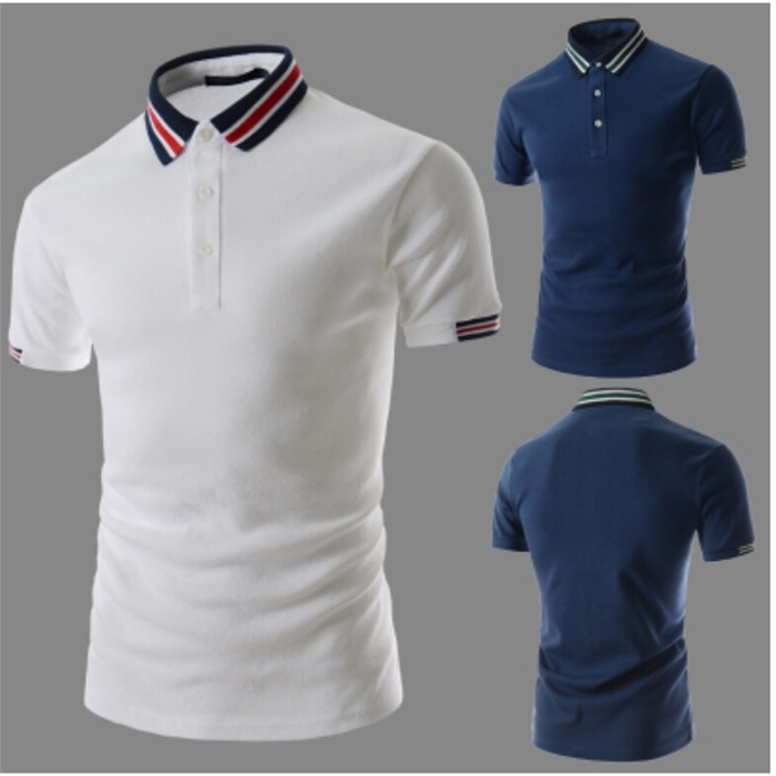 2016 Summer Brand Solid Polo Shirt Fashion Men Casual Turn-down Collar Polo Shirt