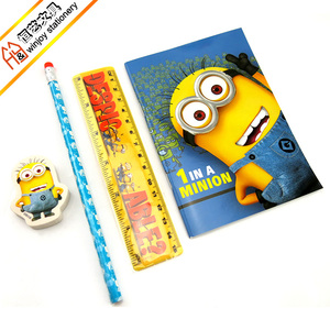 Opp bag with blister card wholesale office stationery,promotional cheap stationery set with PVC pencil case.