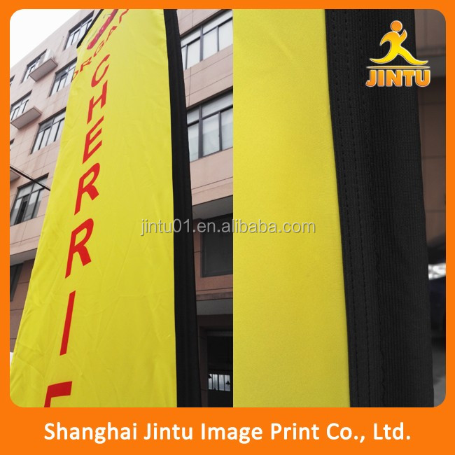Custom advertising floor stand flags blade flags