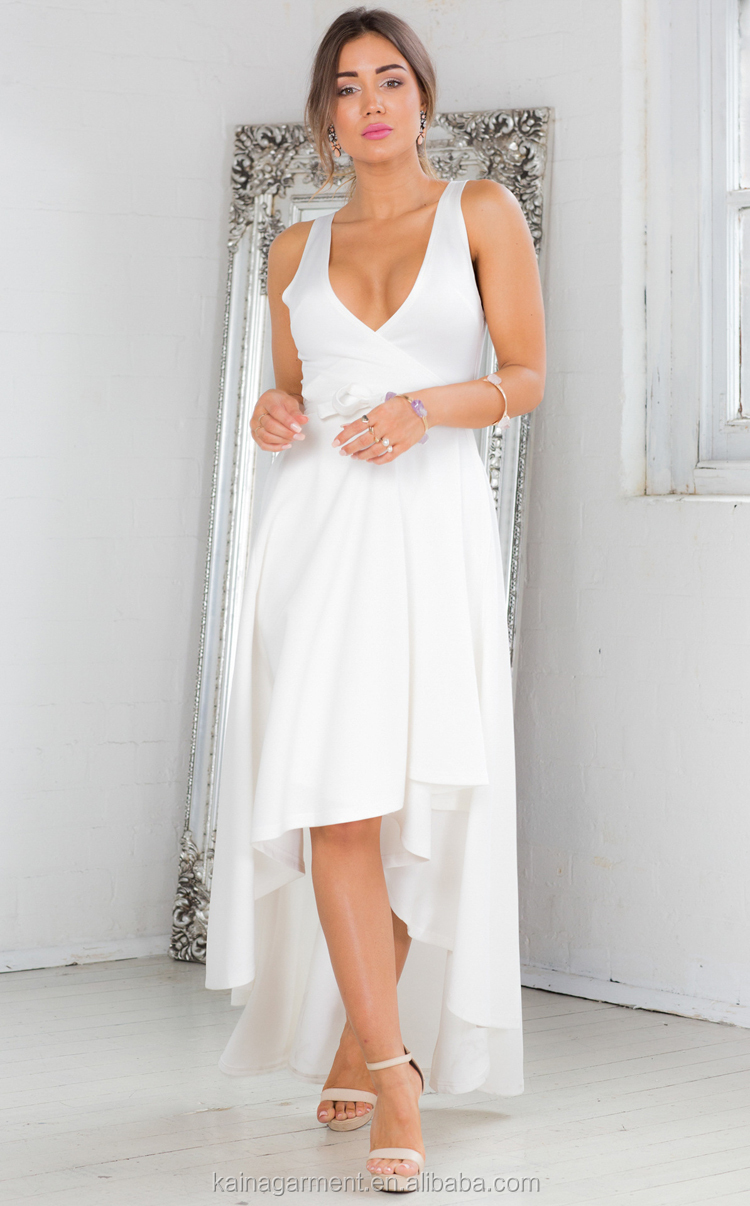ab7acfbfa897 Pure color irregular sexy deep V cut evening banquet first night luxury  women dresses