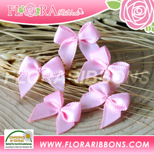 Wholesale mini satin ribbon bows satin ribbon flowers for female garments