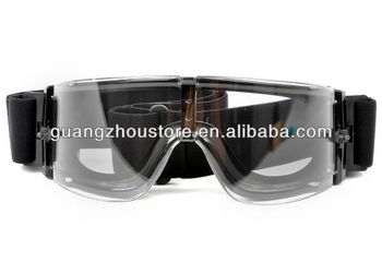 a1c7b4a5239 Airsoft Tactical Anti-fog Full Set Goggle Glasses with 3pc of Lens Black  GZ8013