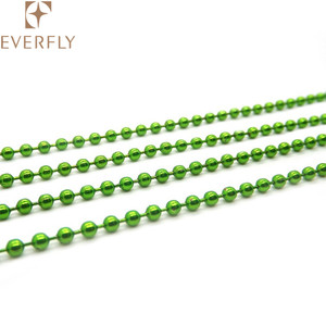 Hot sale light green steel ball chain for decoration