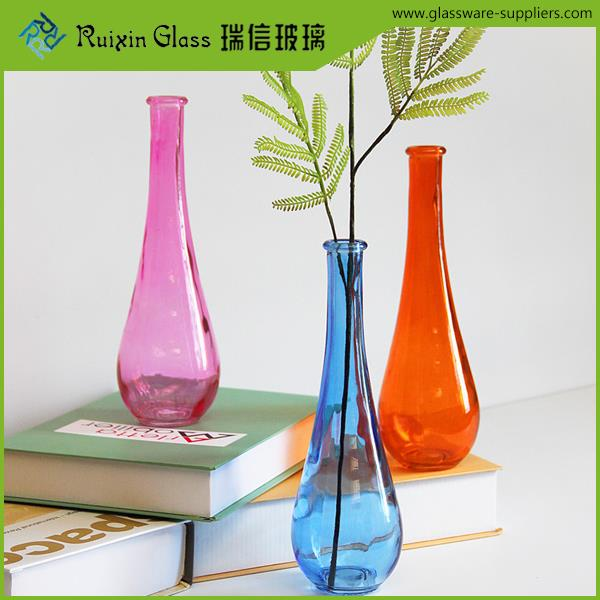 Lead free water drops glass vase,hand blown small glass vase for birthday