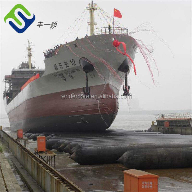 54% natural rubber ship moving airbags used for tug ship for marine industry