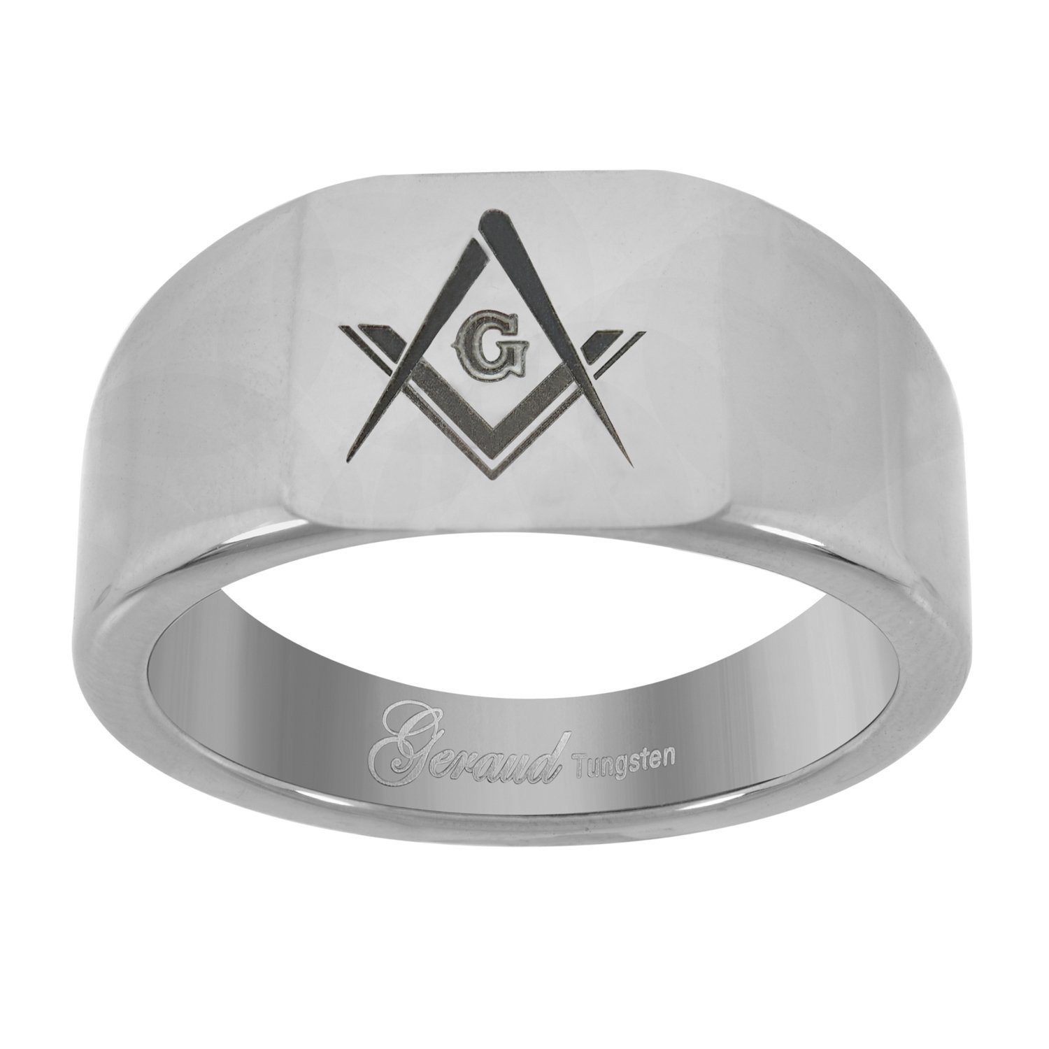 Get Quotations · Saris And Things Tungsten Fortfit 8mm Wedding Band With Laser Masonic: Masonic Wedding Band Anium Ring At Reisefeber.org