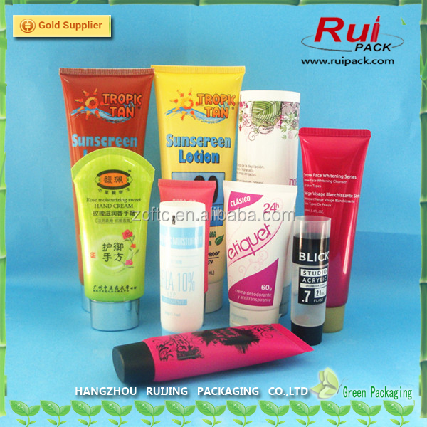 Plastic tube for cosmetics packaging PE cosmetic soft tube with printing Empty cream tube