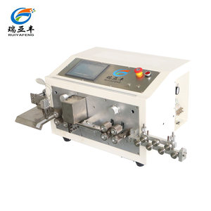 Automatic sheathed cable stripping machine for outer jacket and inner layer strip