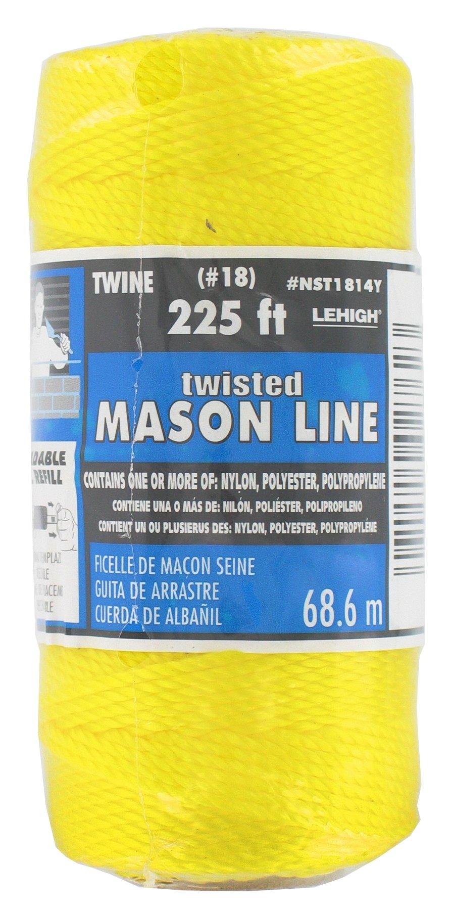 Lehigh Group NST1814YW Nylon Seine Twine, 225', Neon Yellow