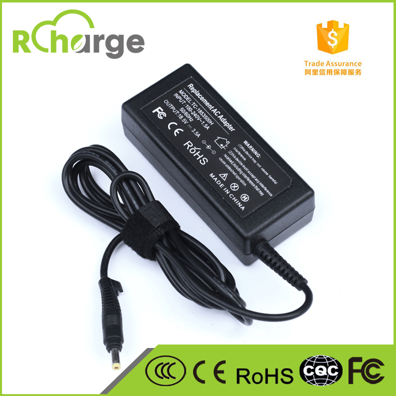 OEM Brand New Laptop Adapter Yellow Tip For HP Laptop 18.5V 3.5A AC DC Adapter