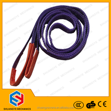 CE and GS standard approved high-quality 2-ply 5 ton polyester flat webbing sling/roller sling/soft sling