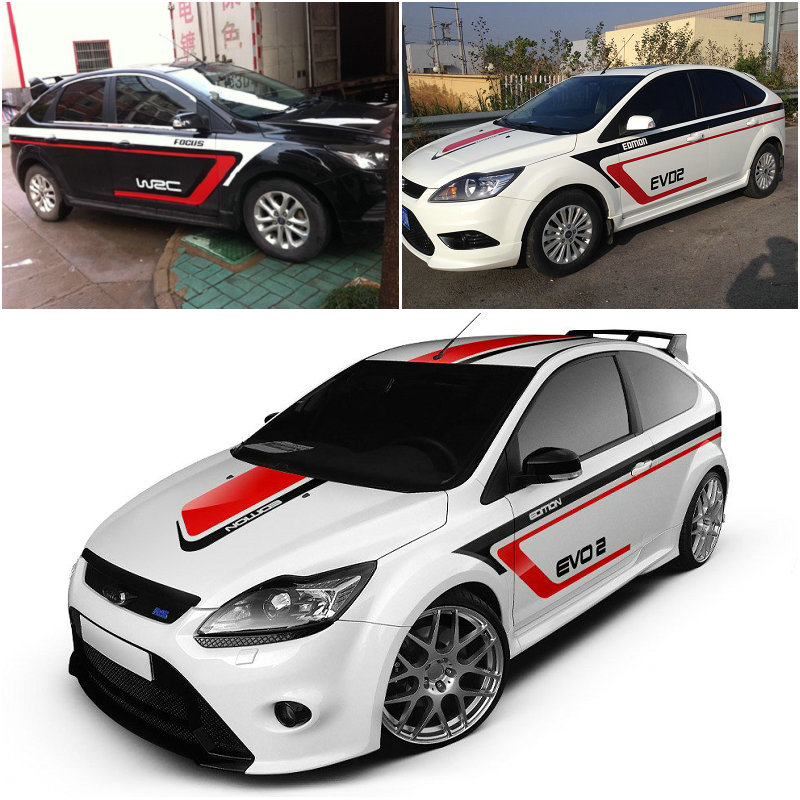 2015 new design full car body stickers for ford focus golf mg5 modified waterproof vehicle body
