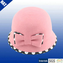 Children pink wool felt hat
