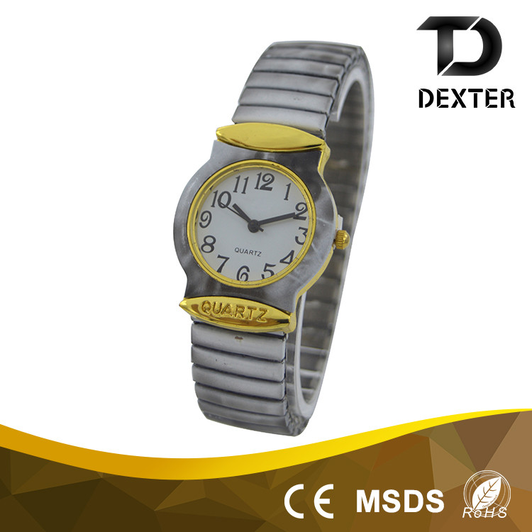 China factory supply 18mm Wide alloy spring band hand watch for girl