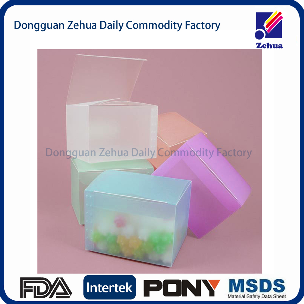 High quality custom logo printing clear transparent pvc plastic packaging box and pet pp junction pvc gift folding cosmetic box