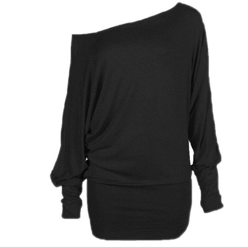 Blouses & Shirts 2015 Long Sleeve Lace Crew Neck Dolman Batwing Tee Shirt Casual Loose Women Shirts