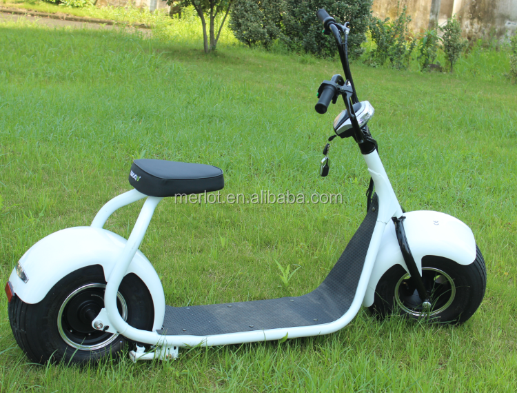 2017 big foot electric scooter with bluetooth/anti-theft/front and rear suspension