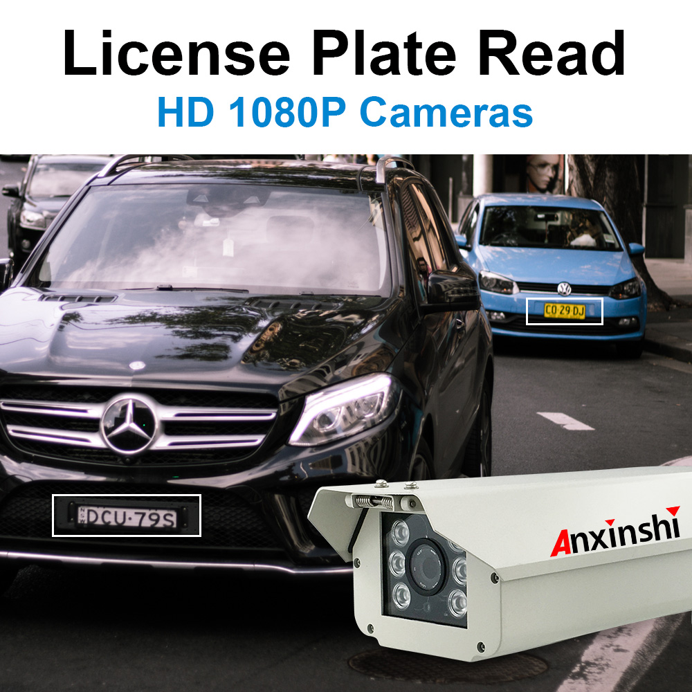 Anxinshi licence plate read cctv camera 2.0MP 10X zoom HD IP IR 100m Bullet CCTV Camera bullet proof cctv camera