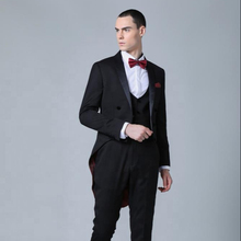 Elegant customized swallow tail tuxedo suits pictures of men wedding coats