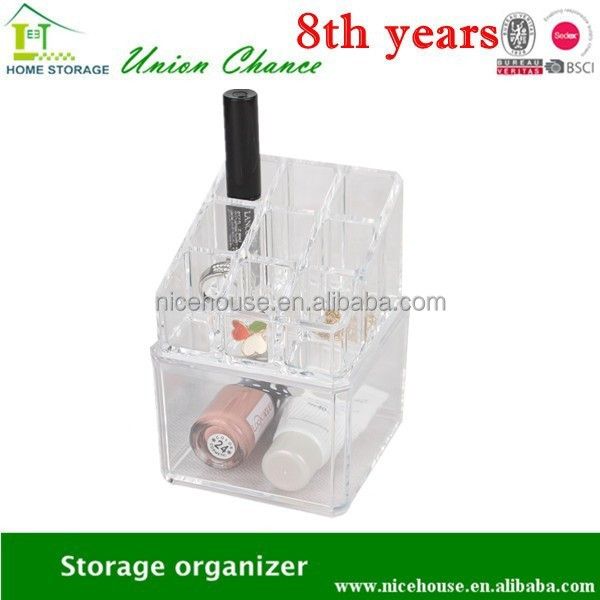 plastic divided drawer storage box, organize your all little small things in one place