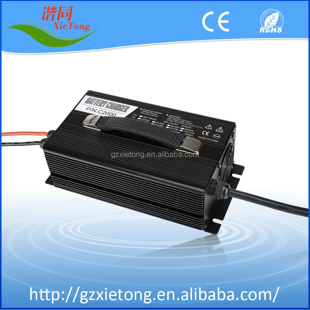 36V Lead Acid / LiFePO4 /Li-ion Battery Charger EV Battery Charger 27A