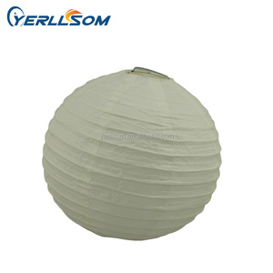 6 inches Tissue Hanging paper lantern round lamp for Wedding festival decorations YR002