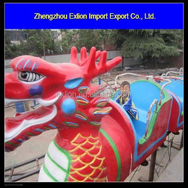 Latest amusement games luxury kids sliding dragon/Exciting roller coaster dragon sliding for kids