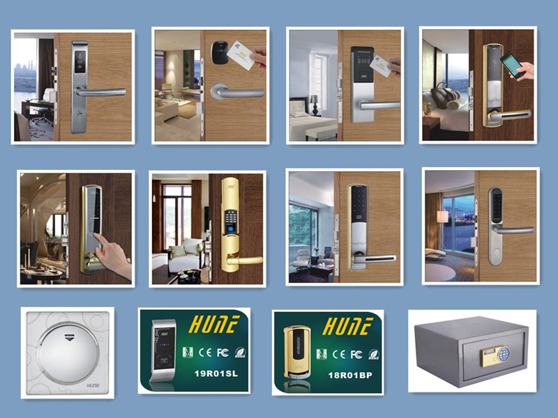 RF keyless popular electronic hotel door handle locks